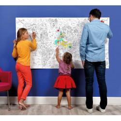 """Coloriage XXL """"Carte du Monde"""""""