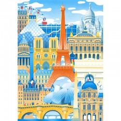 """Puzzle 50 Pièces """"Paris en..."""