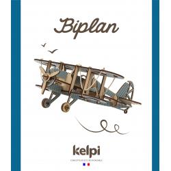 Maquette Avion biplan en bois