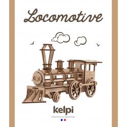 Maquette Locomotive en bois