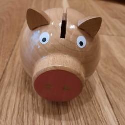 Tirelire Cochon en Bois...