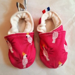 """Chaussons """"Perroquets Rose"""""""
