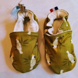 """Chaussons """"Perroquets Verts"""""""